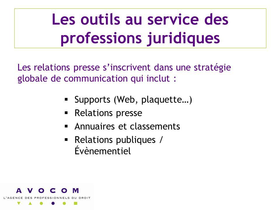 Les outils au service des professions juridiques