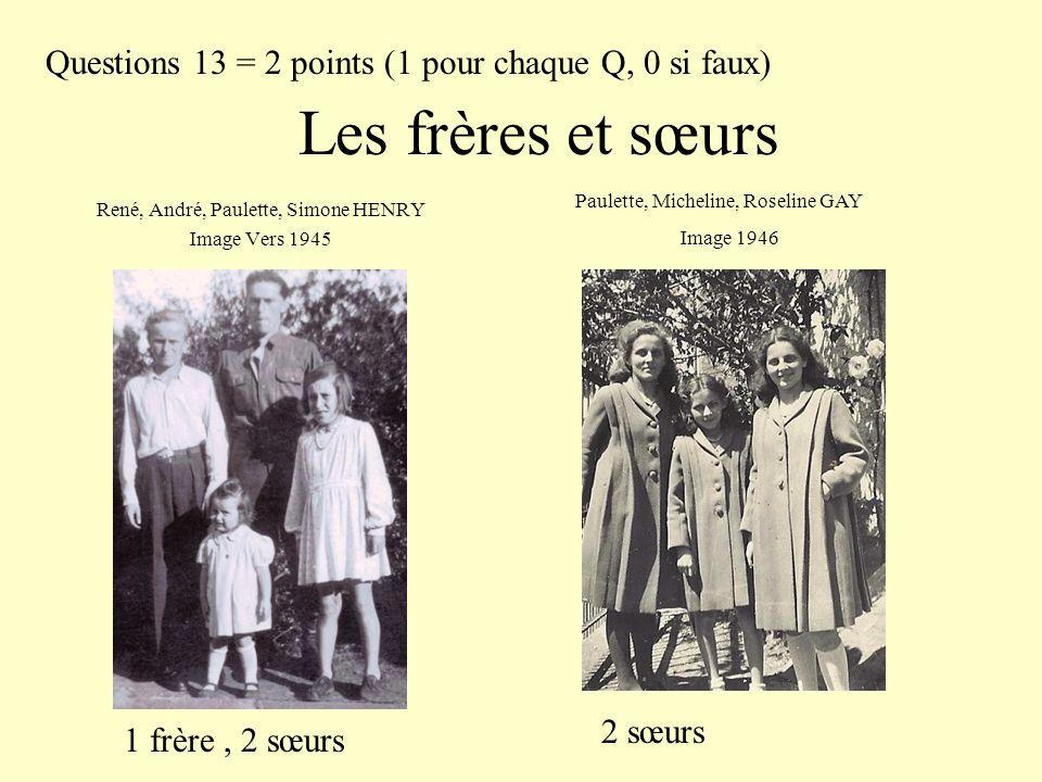 René, André, Paulette, Simone HENRY Image Vers 1945