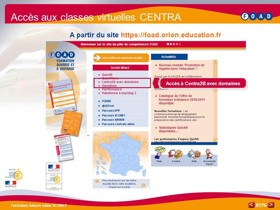 Accès aux classes virtuelles CENTRA