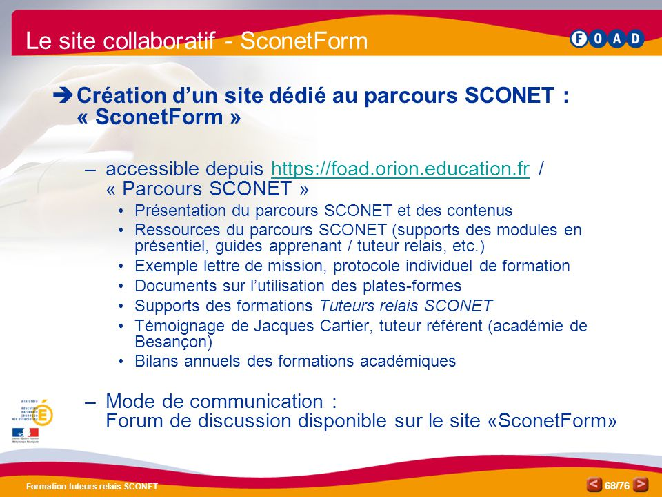 Le site collaboratif - SconetForm