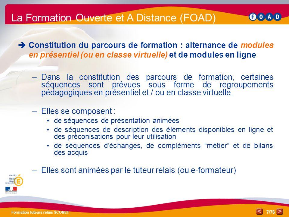 La Formation Ouverte et A Distance (FOAD)