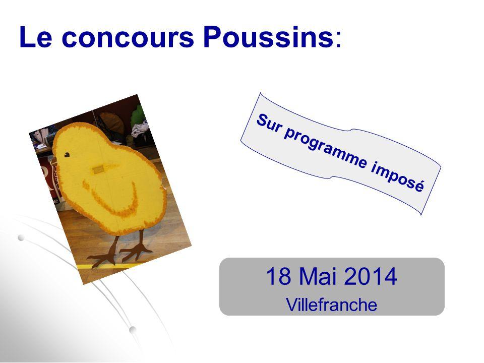 Le concours Poussins: Sur programme imposé 18 Mai 2014 Villefranche
