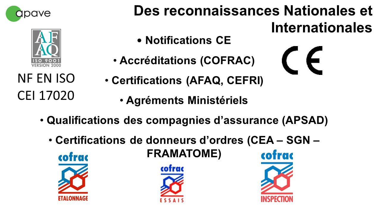 Des reconnaissances Nationales et Internationales