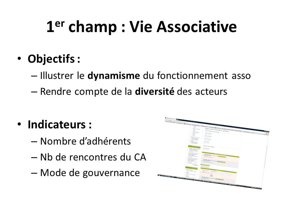 1er champ : Vie Associative