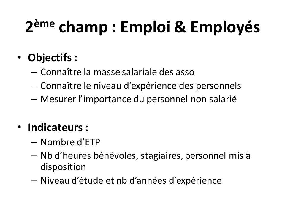 2ème champ : Emploi & Employés