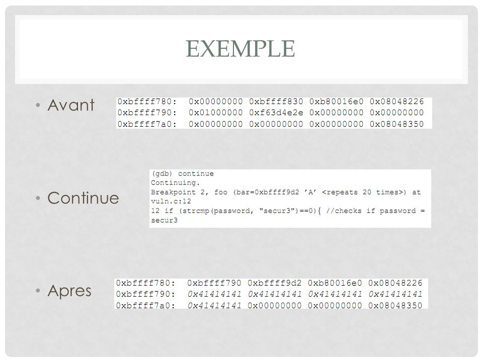 Exemple Avant Continue Apres