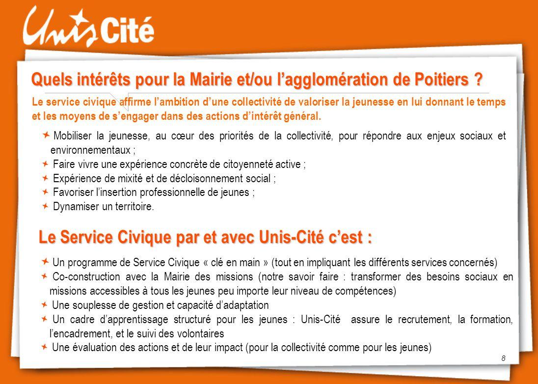 Quels intérêts pour la Mairie et/ou l'agglomération de Poitiers