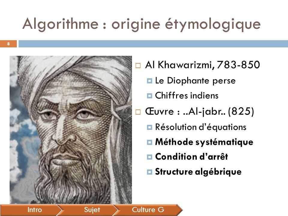 Algorithme : origine étymologique