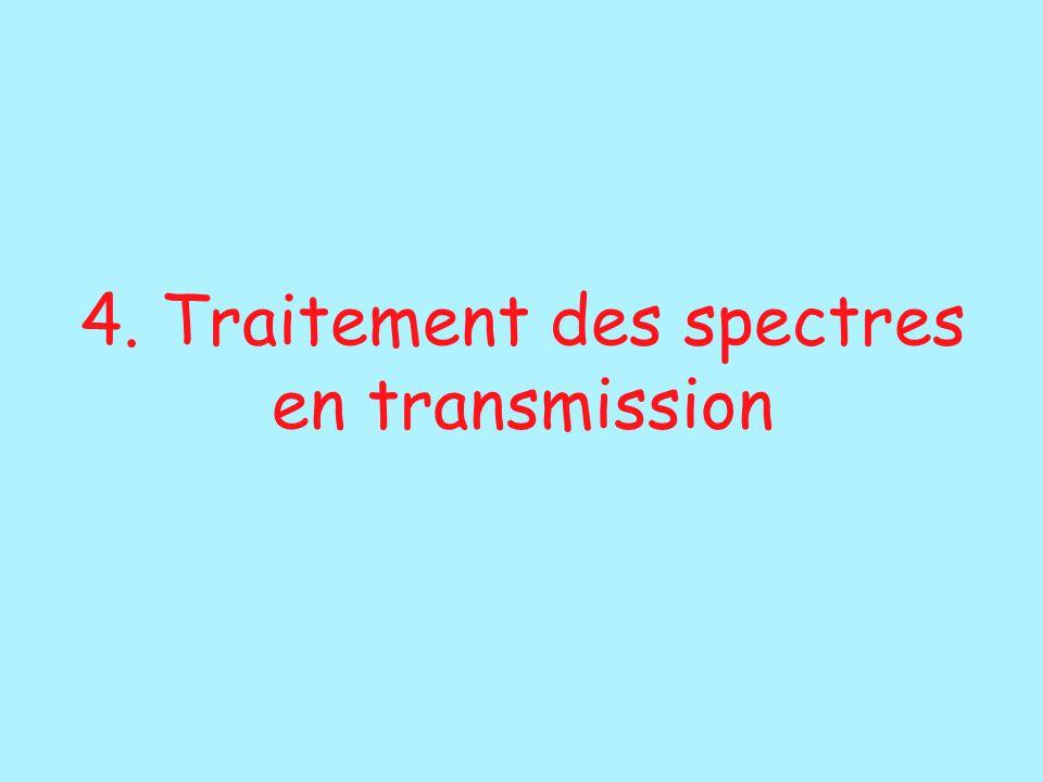 4. Traitement des spectres