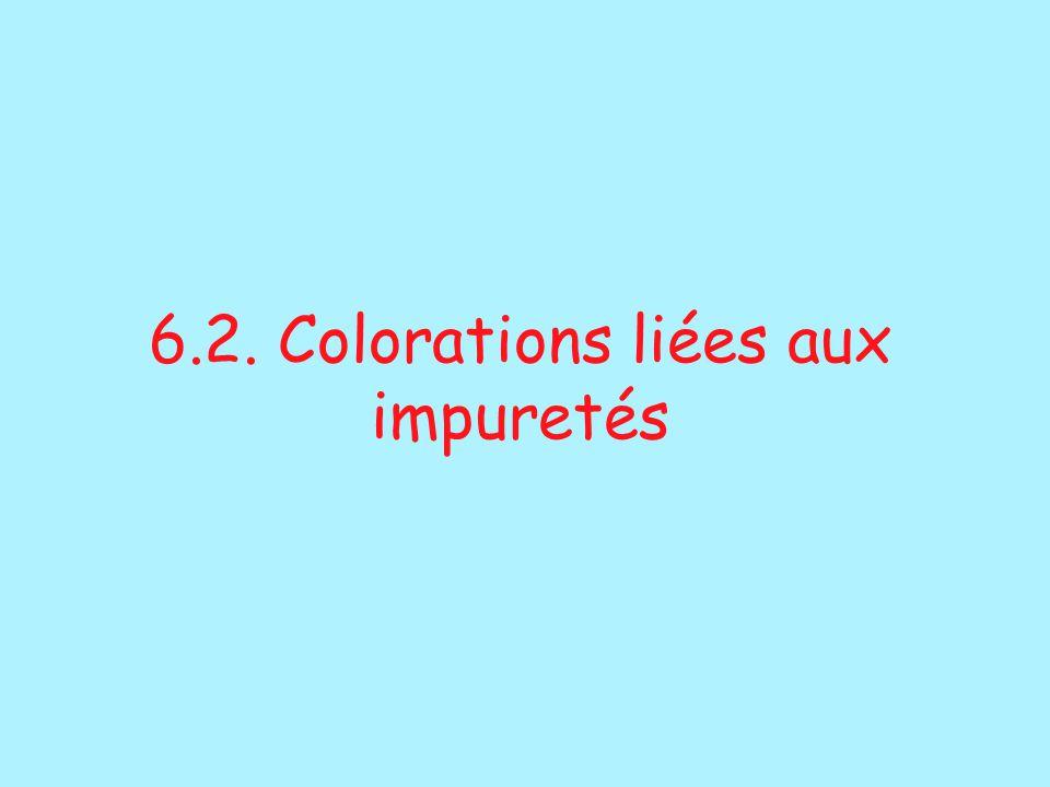 6.2. Colorations liées aux impuretés