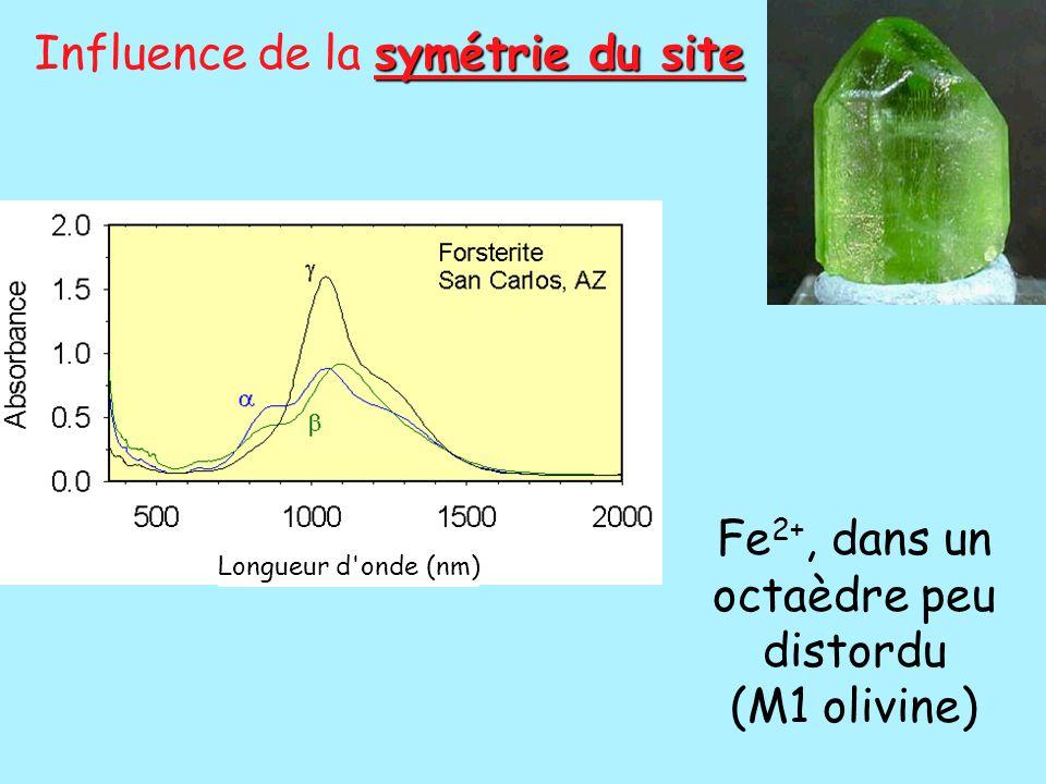 Fe2+, dans un octaèdre peu distordu