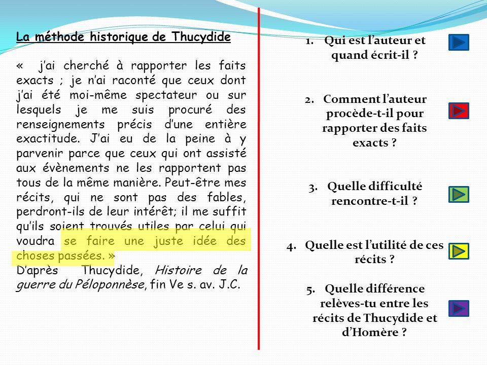 La méthode historique de Thucydide