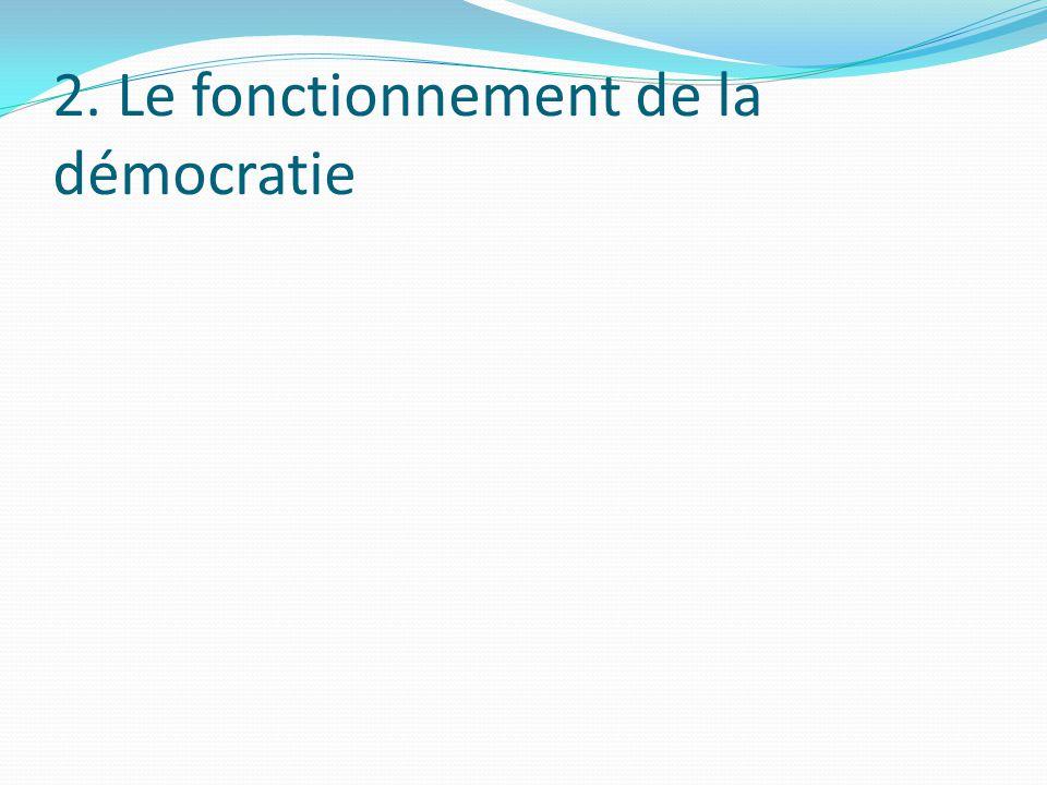 2. Le fonctionnement de la démocratie