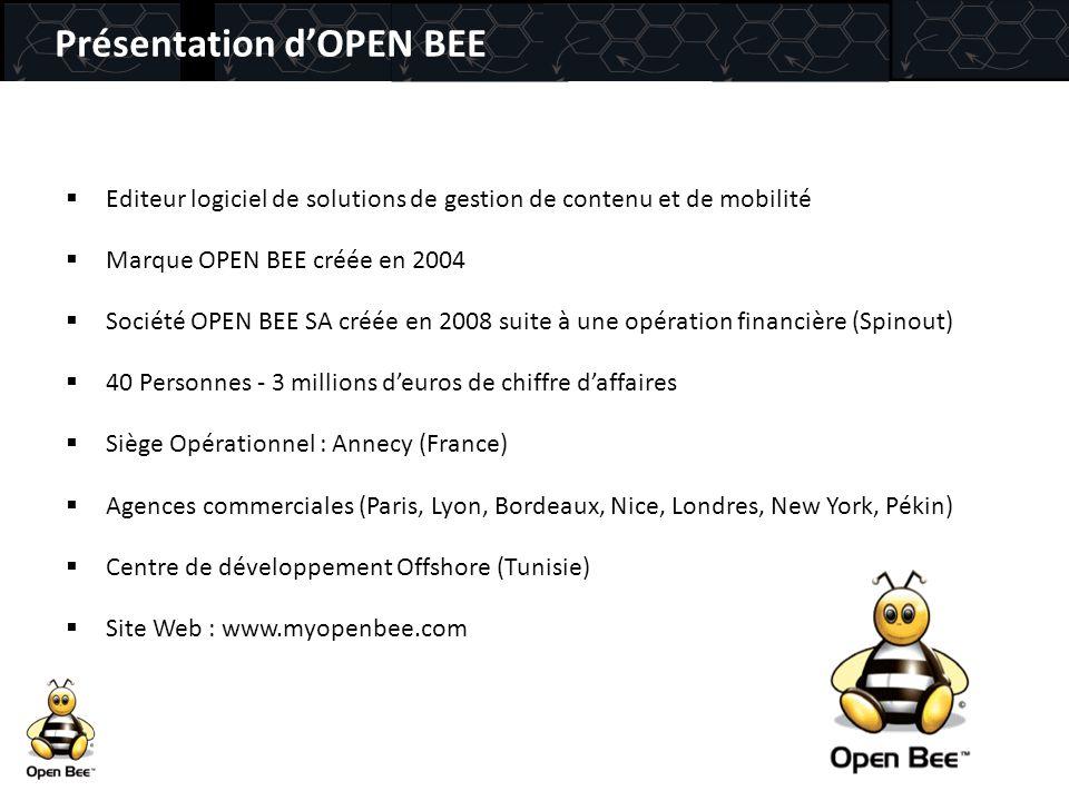 Présentation d'OPEN BEE
