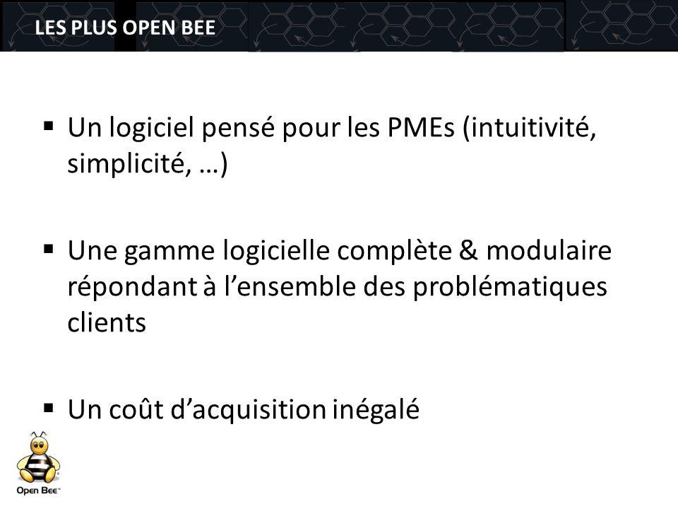 Un logiciel pensé pour les PMEs (intuitivité, simplicité, …)
