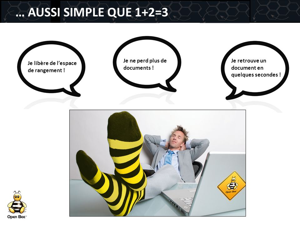 … AUSSI SIMPLE QUE 1+2=3 Je ne perd plus de documents !