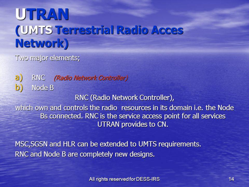 UTRAN (UMTS Terrestrial Radio Acces Network)