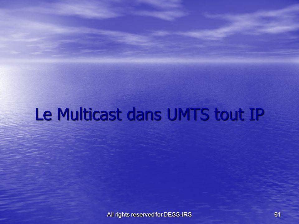 Le Multicast dans UMTS tout IP