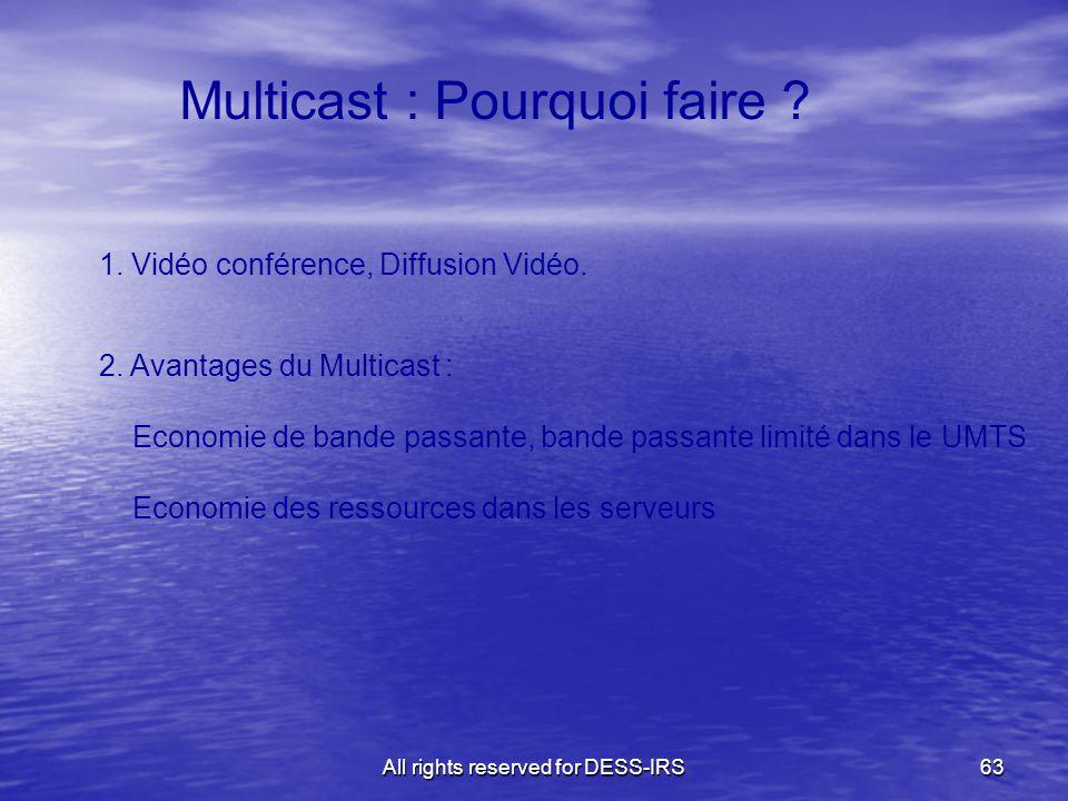 Multicast : Pourquoi faire