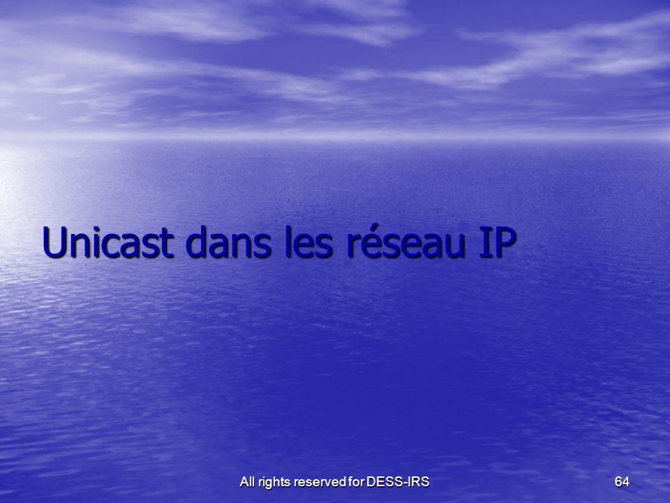 Unicast dans les réseau IP