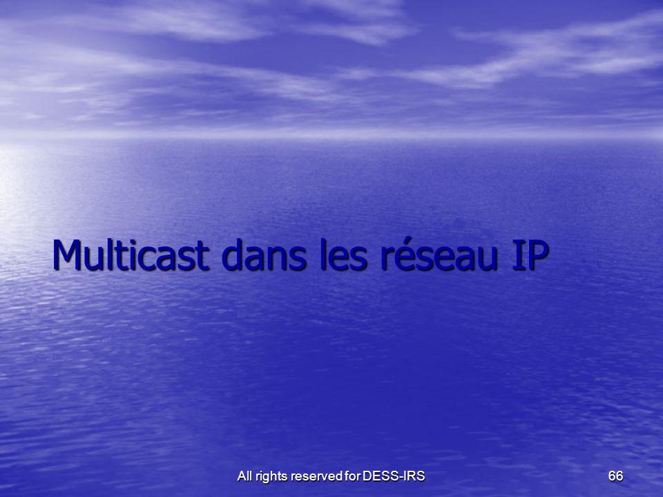 Multicast dans les réseau IP