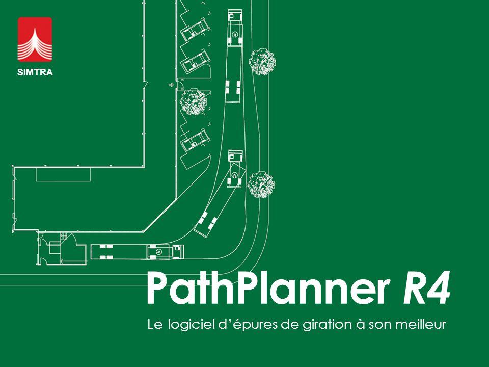 SIMTRA PathPlanner R4 Le logiciel d'épures de giration à son meilleur
