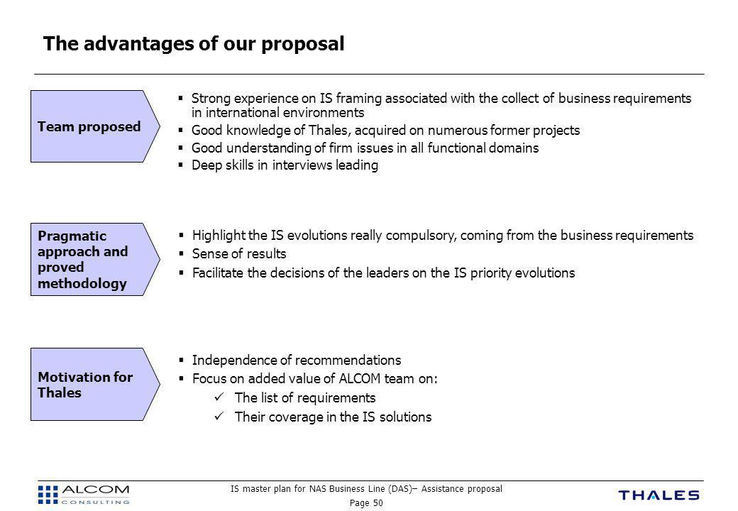 The advantages of our proposal