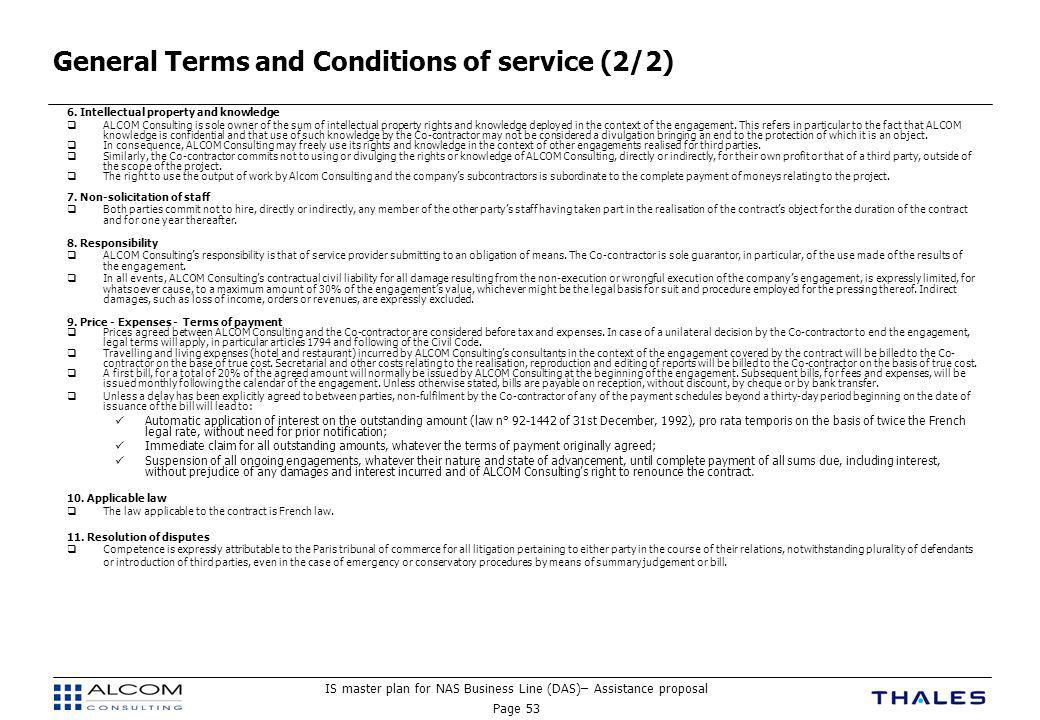 General Terms and Conditions of service (2/2)