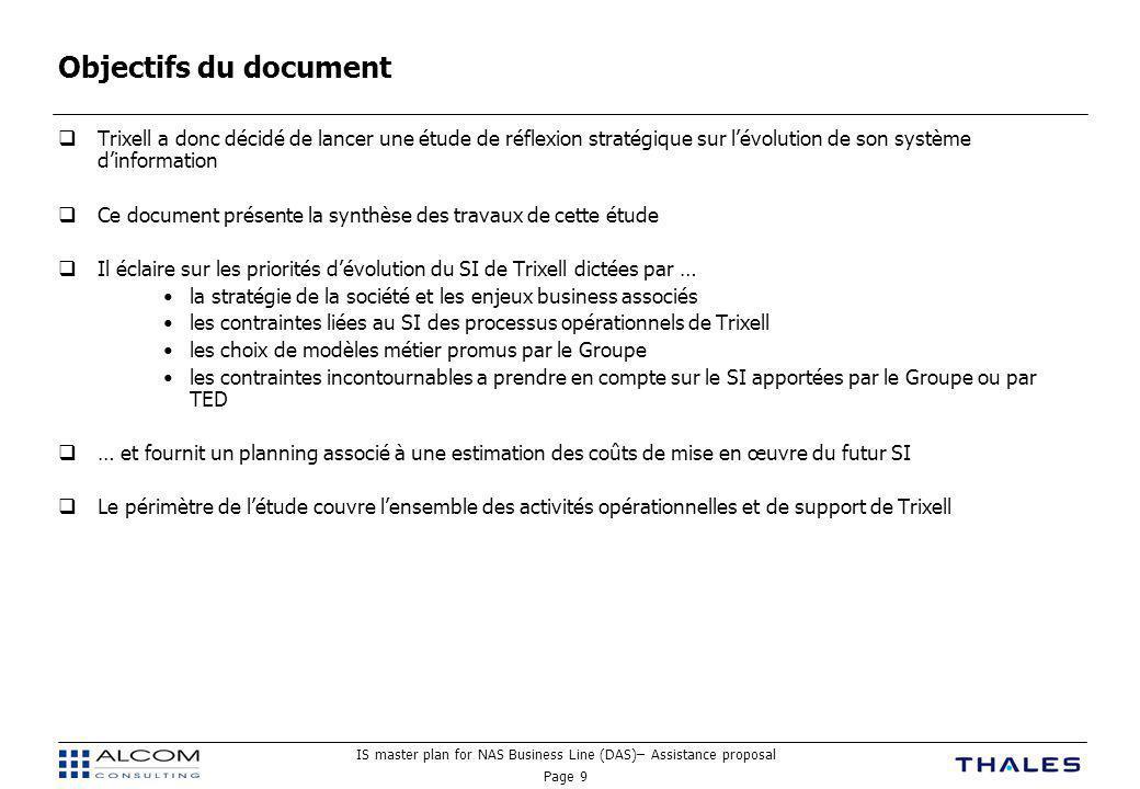 Objectifs du document Trixell a donc décidé de lancer une étude de réflexion stratégique sur l'évolution de son système d'information.