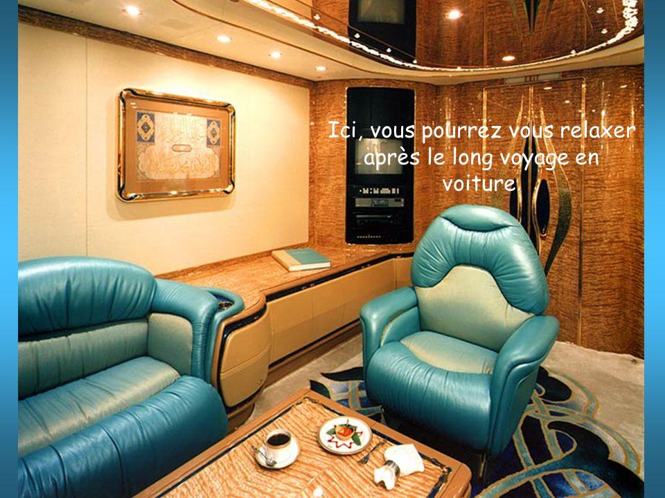 Ici, vous pourrez vous relaxer après le long voyage en voiture.