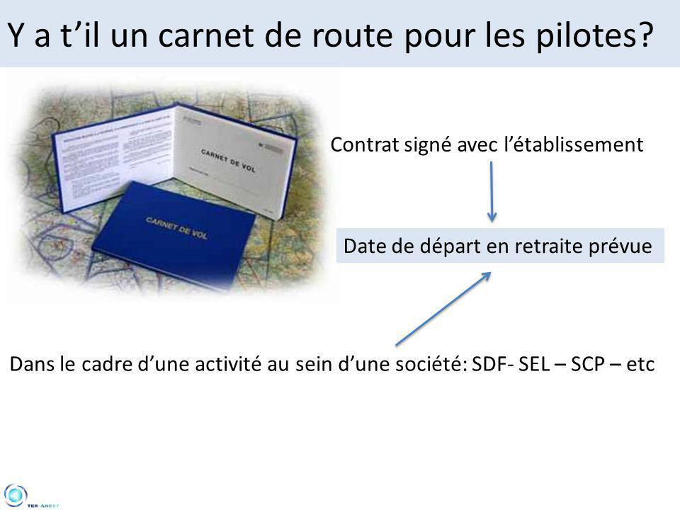 Y a t'il un carnet de route pour les pilotes
