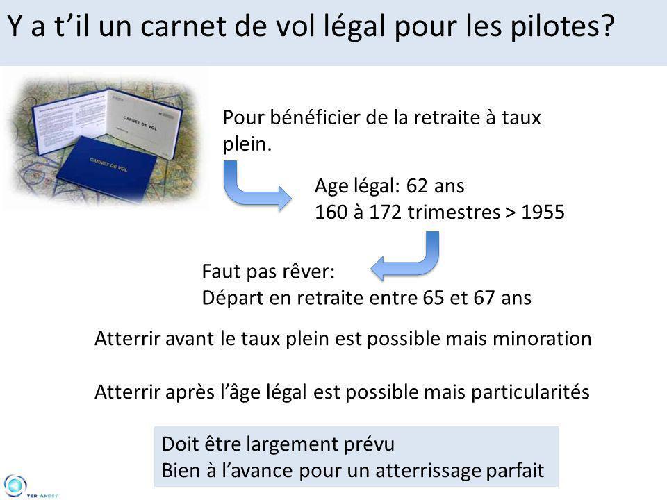 Y a t'il un carnet de vol légal pour les pilotes