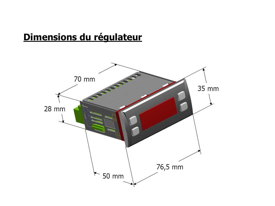Dimensions du régulateur