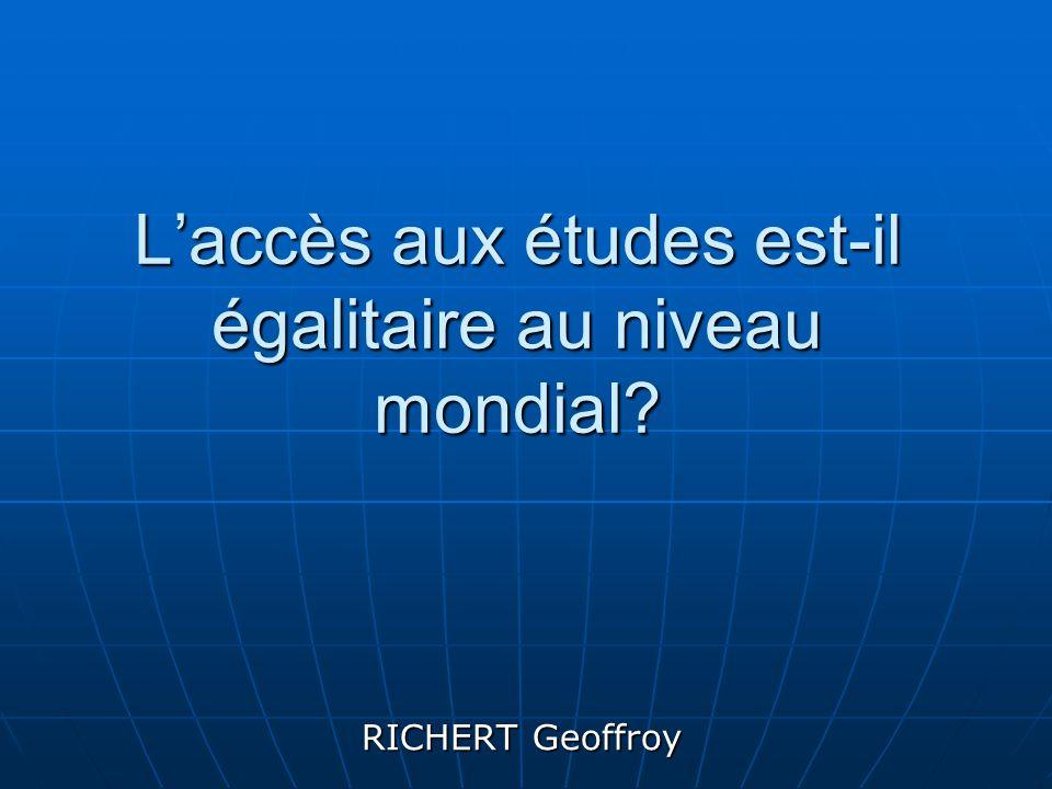 L'accès aux études est-il égalitaire au niveau mondial