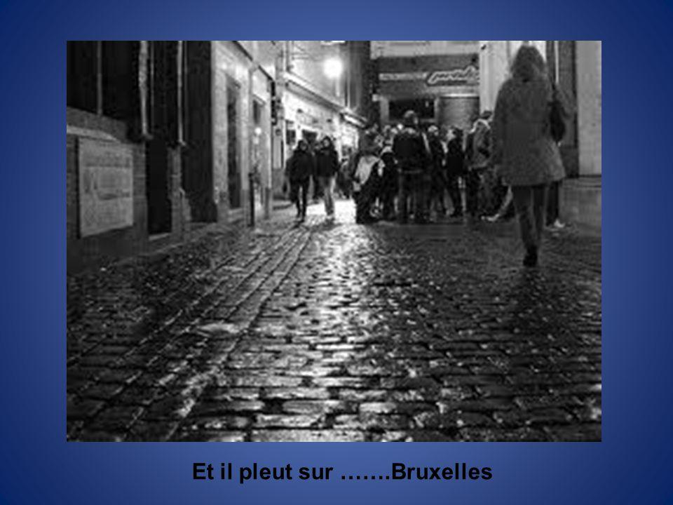 Et il pleut sur …….Bruxelles
