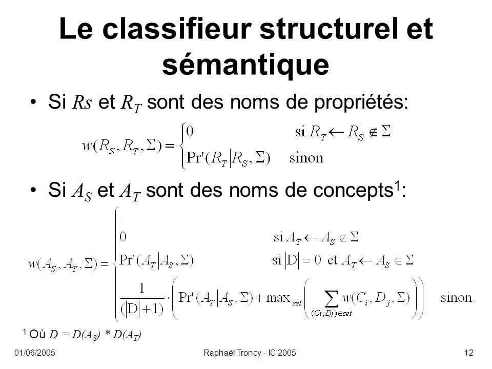 Le classifieur structurel et sémantique
