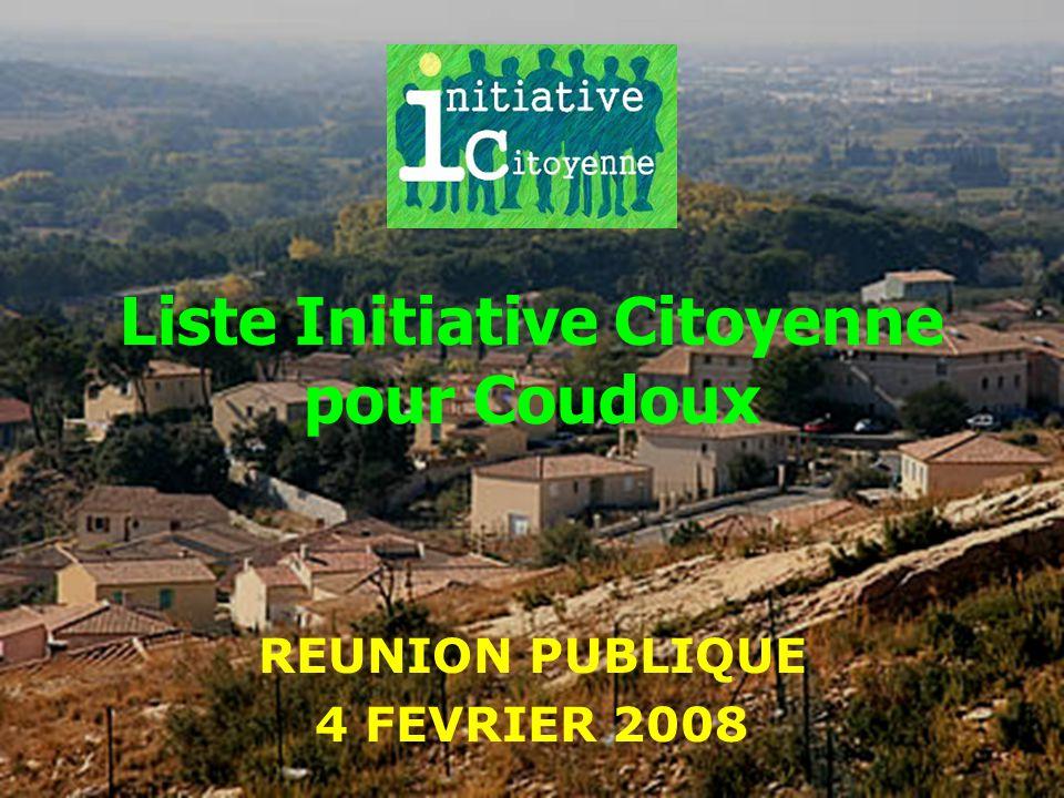 Liste Initiative Citoyenne pour Coudoux