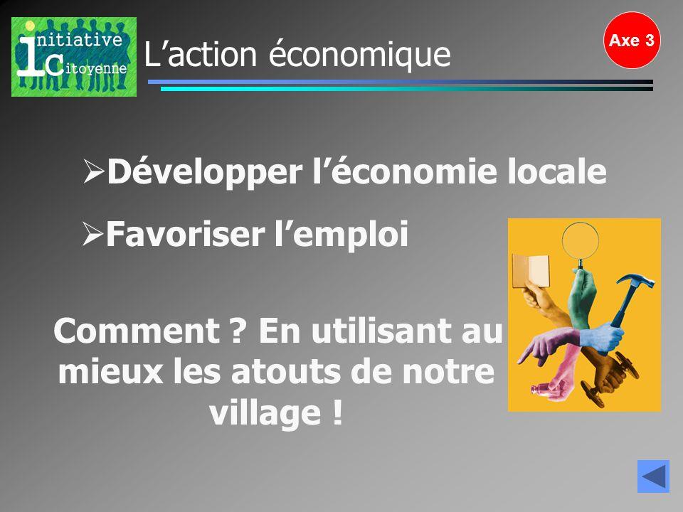 Développer l'économie locale