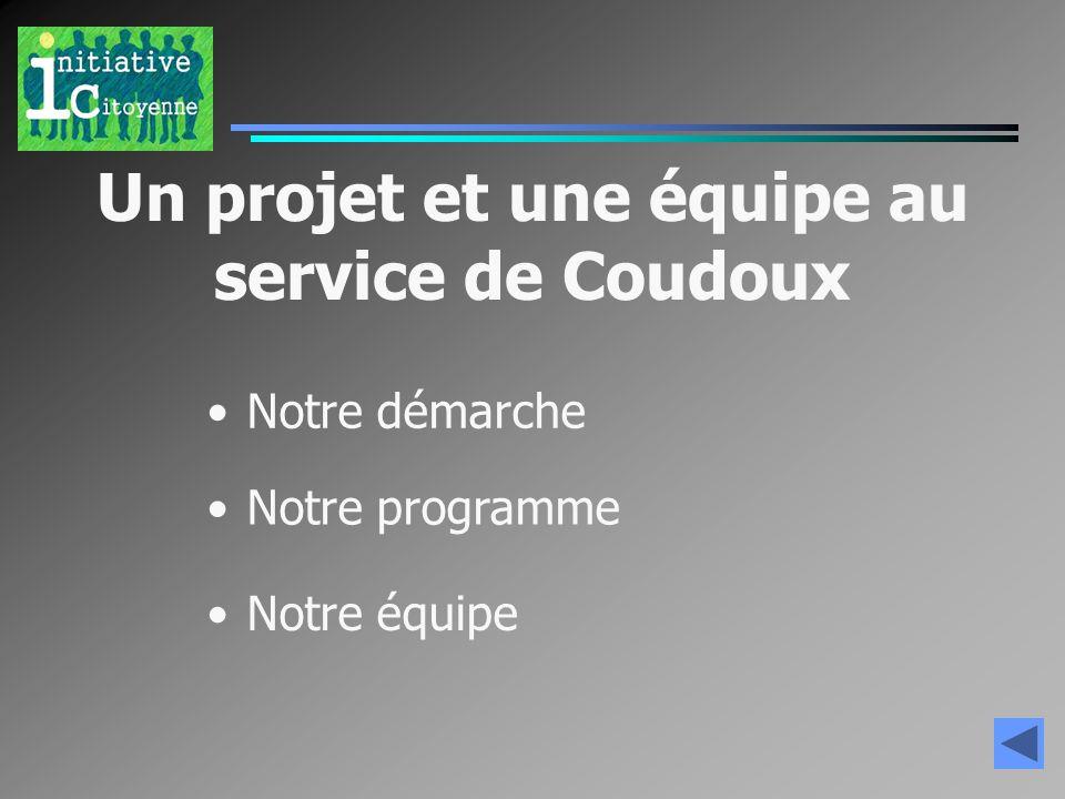 Un projet et une équipe au service de Coudoux