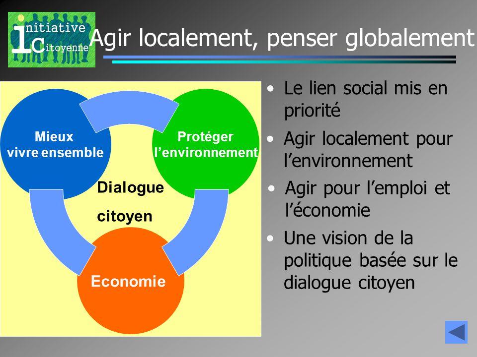 Agir localement, penser globalement