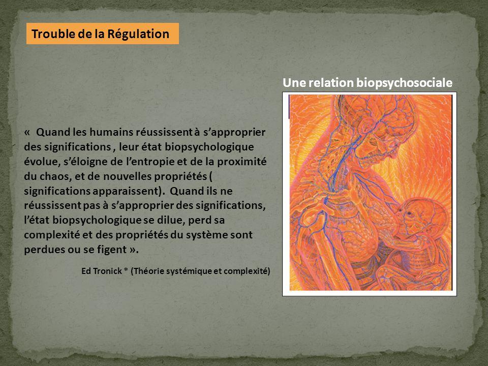 Une relation biopsychosociale Trouble de la Régulation
