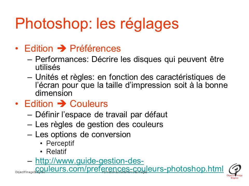 Photoshop: les réglages