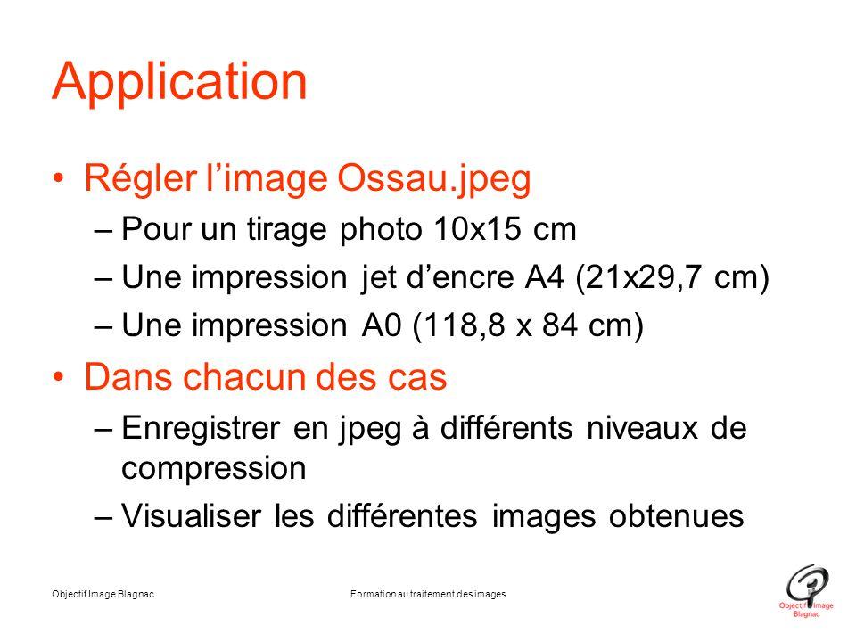 Formation au traitement des images
