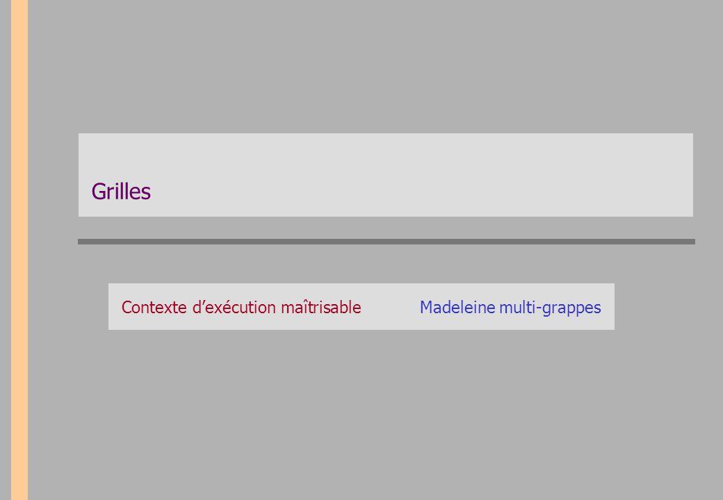 Contexte d'exécution maîtrisable Madeleine multi-grappes
