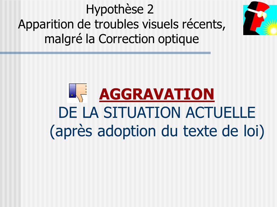 DE LA SITUATION ACTUELLE (après adoption du texte de loi)