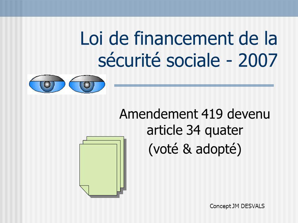 Loi de financement de la sécurité sociale - 2007