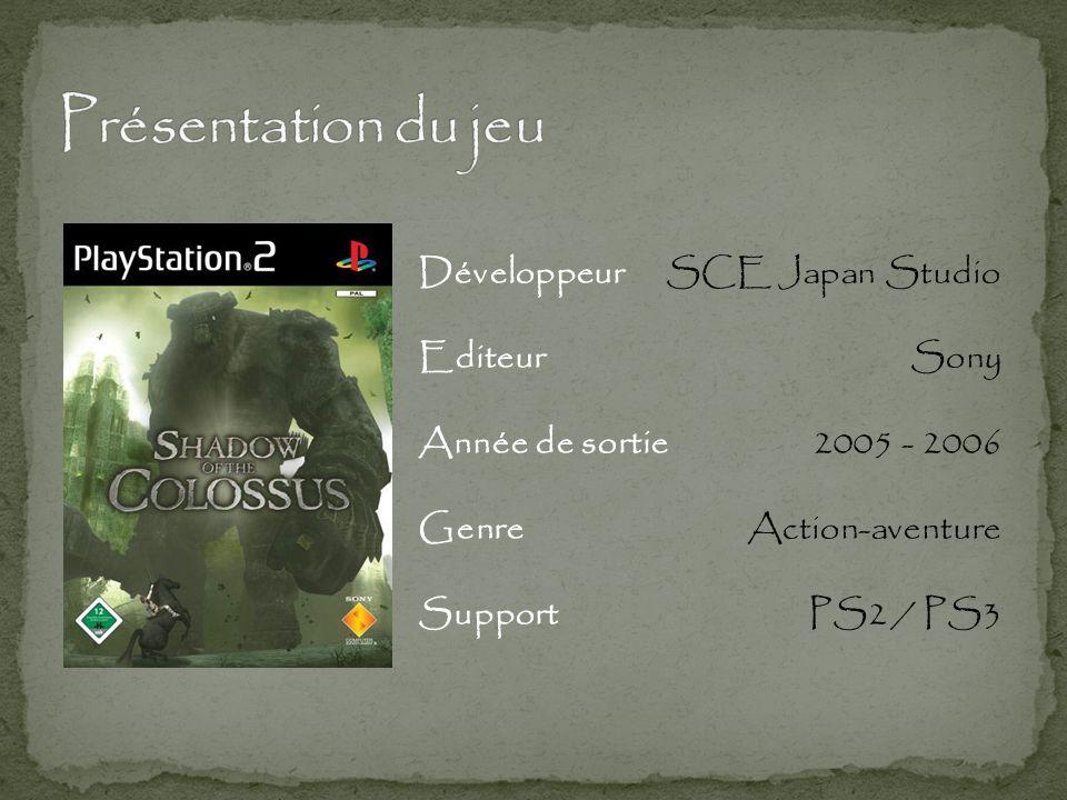 Présentation du jeu Développeur Editeur Année de sortie Genre Support