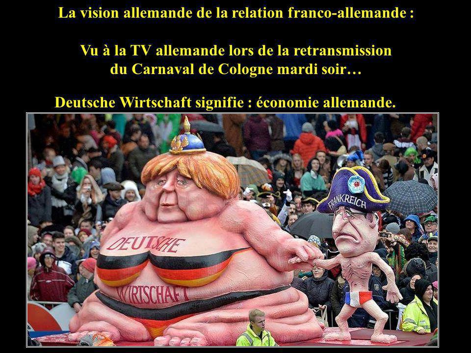 La vision allemande de la relation franco-allemande :