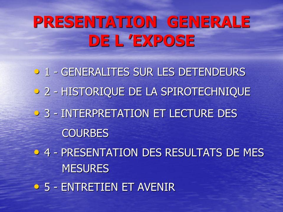 PRESENTATION GENERALE DE L 'EXPOSE