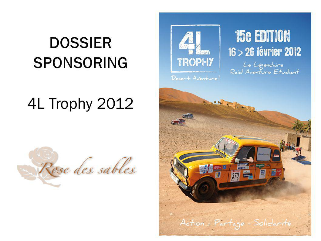DOSSIER SPONSORING 4L Trophy 2012 1